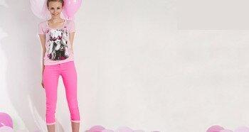 Розовые оттенки одежды