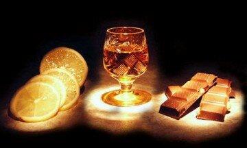 Лимон коньяк и шоколад