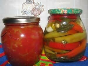 Заготовка измельченных и цельных перцев