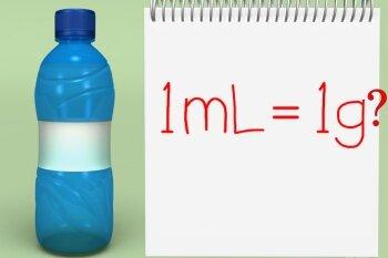 1 грамм и 1 миллилитр