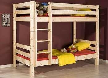 Двухярусная кровать из брусков