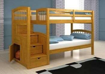Двухярусная кровать с ящиками-ступенями