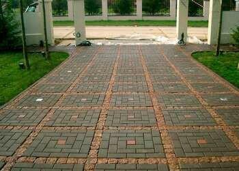 Тротуарная плитка в парке