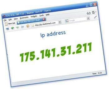 В броузере написан айпи адрес
