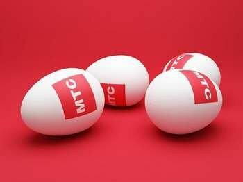 Яйца с надписью мтс