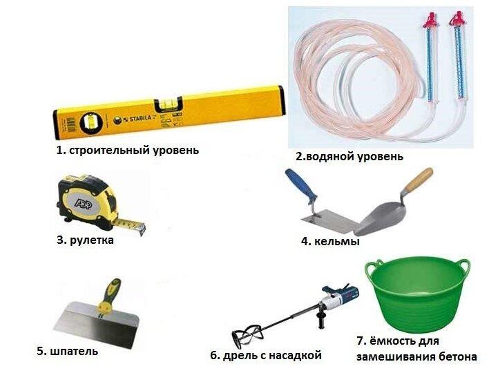 Инструменты для работы с бетоном