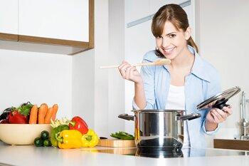 Приготовление обеда мужу