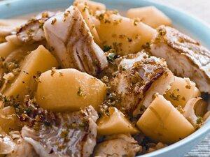 Рагу из картофеля с треской