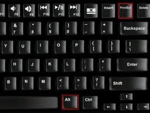 Клавиши для сохранения активного окна
