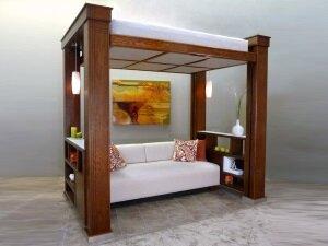 Кровать на втором ярусе