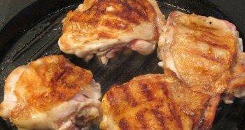 Приготовление жареной курицы на сковороде
