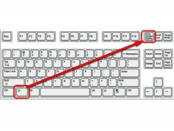 Клавиши для снимка экрана в Windows 8