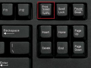 """Скриншот с помощью кнопки """"printskreen"""""""