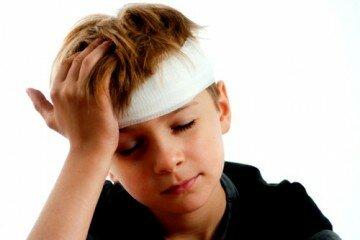 Cотрясение мозга у ребенка