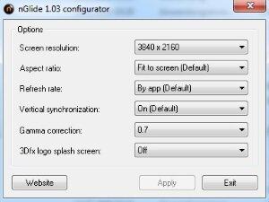 Изменение параметров через эмулятор Glide