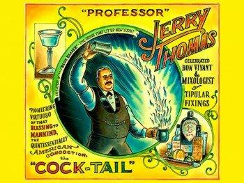 """Джерри Томас - состовитель напитка """"Голубой Блейзер"""""""