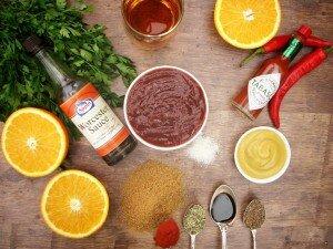 Ингредиенты для соуса барбекю