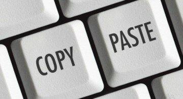 Копирование текста с помощью клавиатуры