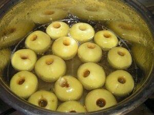 Приготовление маринованных яблок