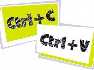 Сочетание клавиш для копирования и вставки текста
