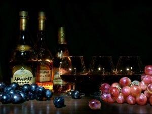 Виноград с коньяком