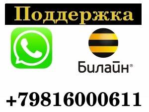 Поддержка Билайн в мессенджере WhatsApp