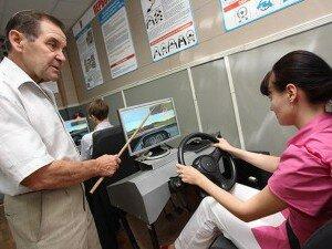Занятия на симуляторе вождения атомобиля